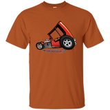"""The Uncertain-T"" Famous Hot Rod Tee Shirt design #3 on Texas Orange Tee"