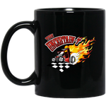 """The Uncertain-T"" Famous Hot Rod Design #13 on 11 oz. Black Mug"