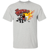 """The Uncertain-T"" Famous Hot Rod Tee Shirt design #13 on Ash Tee"