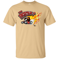 """The Uncertain-T"" Famous Hot Rod Tee Shirt design #11 on Vegas Gold Tee"