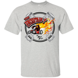 """The Uncertain-T"" Famous Hot Rod Tee Shirt design #15 on Ash Tee"