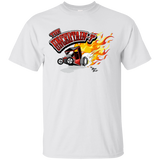 """The Uncertain-T"" Famous Hot Rod Tee Shirt design #12 on White Tee"