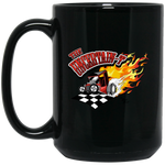 """The Uncertain-T"" Famous Hot Rod Design #13 on 15 oz. Black Mug"