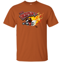 """The Uncertain-T"" Famous Hot Rod Tee Shirt design #11 on Texas Orange Tee"