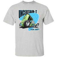 """The Uncertain-T"" Famous Hot Rod Tee Shirt design #7 on Ash Tee"