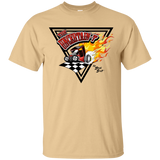"""The Uncertain-T"" Famous Hot Rod Tee Shirt design #14 on Vegas Gold Tee"