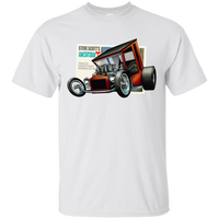"""The Uncertain-T"" Famous Hot Rod Tee Shirt design #9 on White Tee"