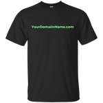 Your Domain Name - on 11 Dark color tees!