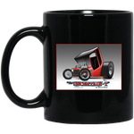"""The Uncertain-T"" Famous Hot Rod Design #02 on 11 oz. Black Mug"