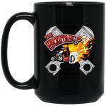 """The Uncertain-T"" Famous Hot Rod Design #15 on 15 oz. Black Mug"