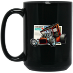 """The Uncertain-T"" Famous Hot Rod Design #09 on 15 oz. Black Mug"