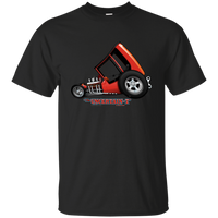 """The Uncertain-T"" Famous Hot Rod Tee Shirt design #3 on Black Tee"
