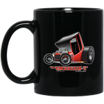 """The Uncertain-T"" Famous Hot Rod Design #01 on 11 oz. Black Mug"