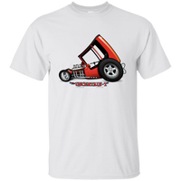 """The Uncertain-T"" Famous Hot Rod Tee Shirt design #3 on White Tee"