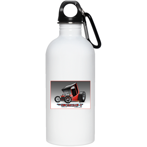 Uncertain-T Design #02 on 20 oz. Stainless Steel Water Bottle