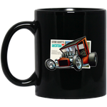 """The Uncertain-T"" Famous Hot Rod Design #09 on 11 oz. Black Mug"