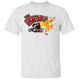 """The Uncertain-T"" Famous Hot Rod Tee Shirt design #11 on White Tee"