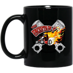 """The Uncertain-T"" Famous Hot Rod Design #15 on 11 oz. Black Mug"