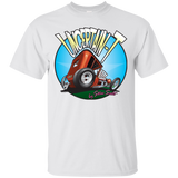"""The Uncertain-T"" Famous Hot Rod Tee Shirt design #6 on White Tee"