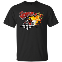 """The Uncertain-T"" Famous Hot Rod Tee Shirt design #13 on Black Tee"