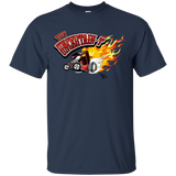 """The Uncertain-T"" Famous Hot Rod Tee Shirt design #11 on Dark Heather Tee"