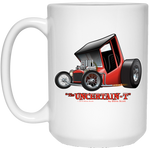 """The Uncertain-T"" Famous Hot Rod Design #01 on 15 oz. White Mug"