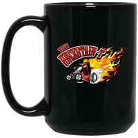 """The Uncertain-T"" Famous Hot Rod Design #11 on 15 oz. Black Mug"