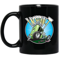 """The Uncertain-T"" Famous Hot Rod Design #05 on 11 oz. Black Mug"