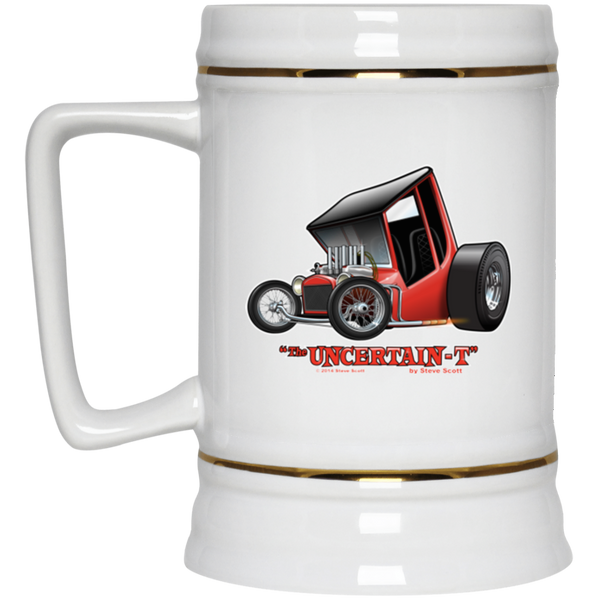 """The Uncertain-T"" Famous Hot Rod Design #01 on 22 oz. Beer Stein"