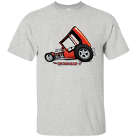 """The Uncertain-T"" Famous Hot Rod Tee Shirt design #3 on Ash Tee"