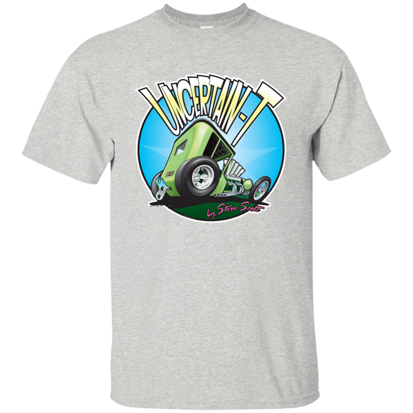 """The Uncertain-T"" Famous Hot Rod Tee Shirt design #5 on Ash Tee"