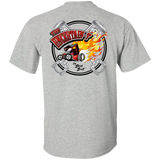 """The Uncertain-T"" Hot Rod Tee Shirt. Design #13 front, #15 back"