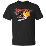 """The Uncertain-T"" Famous Hot Rod Tee Shirt design #12 on Black Tee"