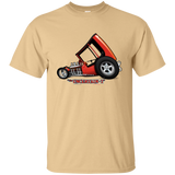 """The Uncertain-T"" Famous Hot Rod Tee Shirt design #3 on Vegas Gold Tee"