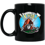 """The Uncertain-T"" Famous Hot Rod Design #06 on 11 oz. Black Mug"