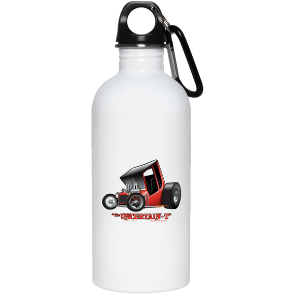 """The Uncertain-T"" Famous Hot Rod Design #01 on 20 oz. Stainless Steel Water Bottle"