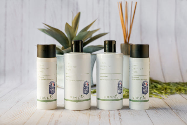 Palm oil free shampoo and conditioner