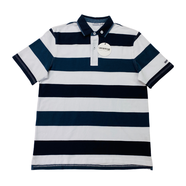 Navy / White / Slate 100% Cotton Mens Polo