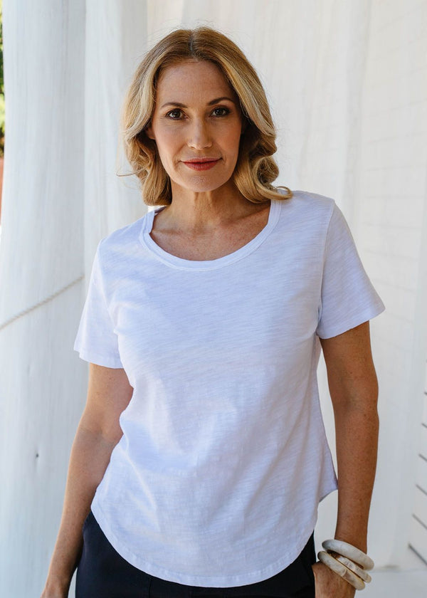 White 100% Cotton Short Sleeve Tee Shirt