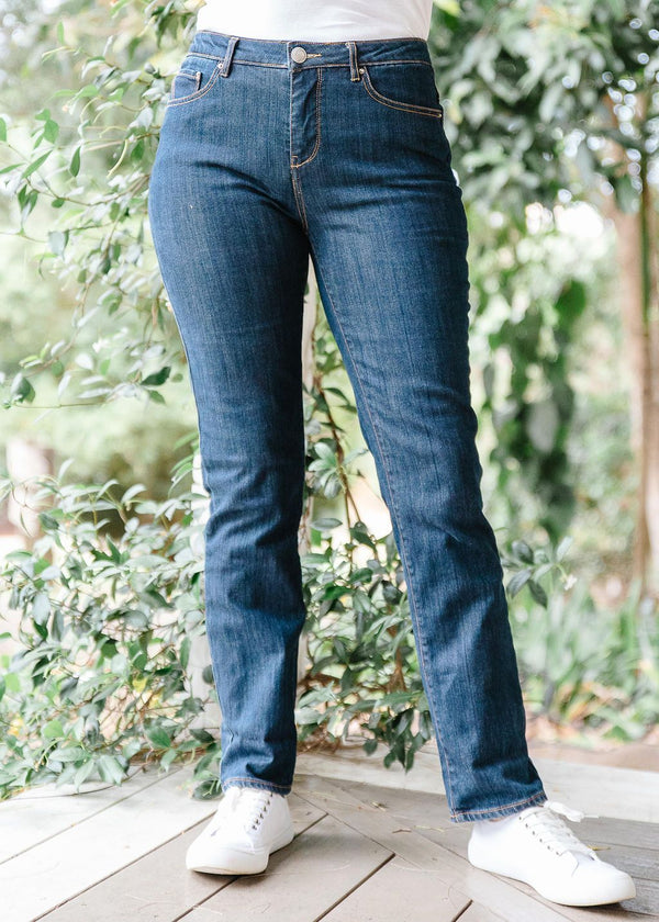 Dark Indigo 98% Cotton 2% Spandex 5 Pocket Jean