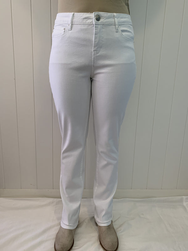 White 98% Cotton 2% Spandex 5 Pocket Jean