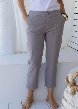 Cement 97% Cotton 3% Spandex Relaxed Chino Pant