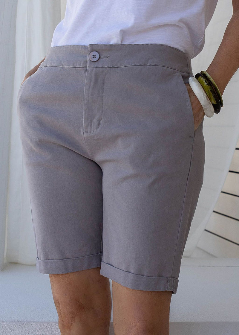 Cement 97% Cotton 3% Spandex Relaxed Chino Short