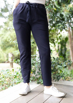 Navy 100% Cotton Track Pant