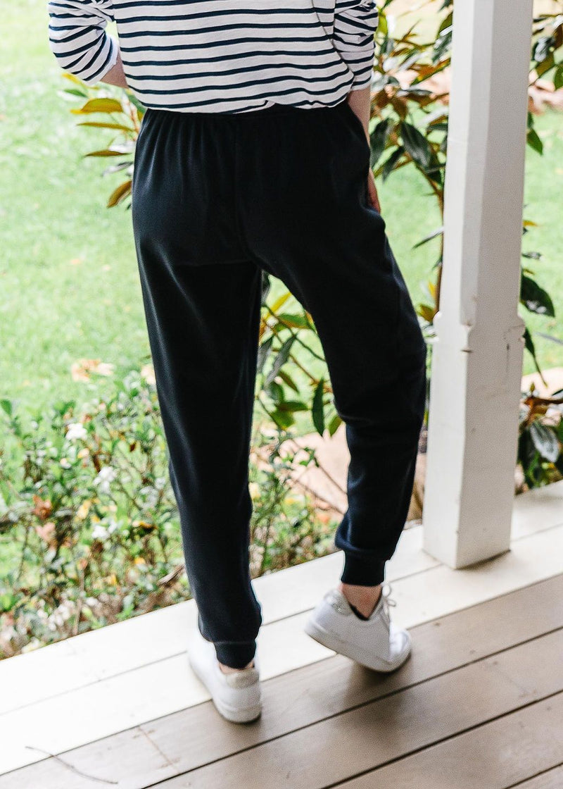 Navy 100% Cotton Tracksuit Pant