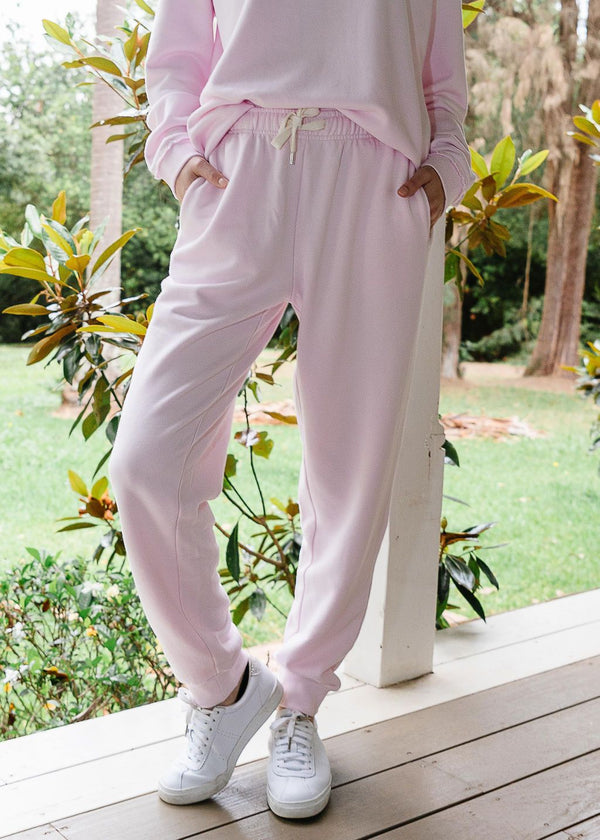 Pale Pink 100% Cotton Tracksuit Pant