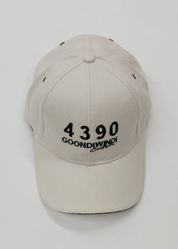 Embroidered # 4390 Logo Cream Cap