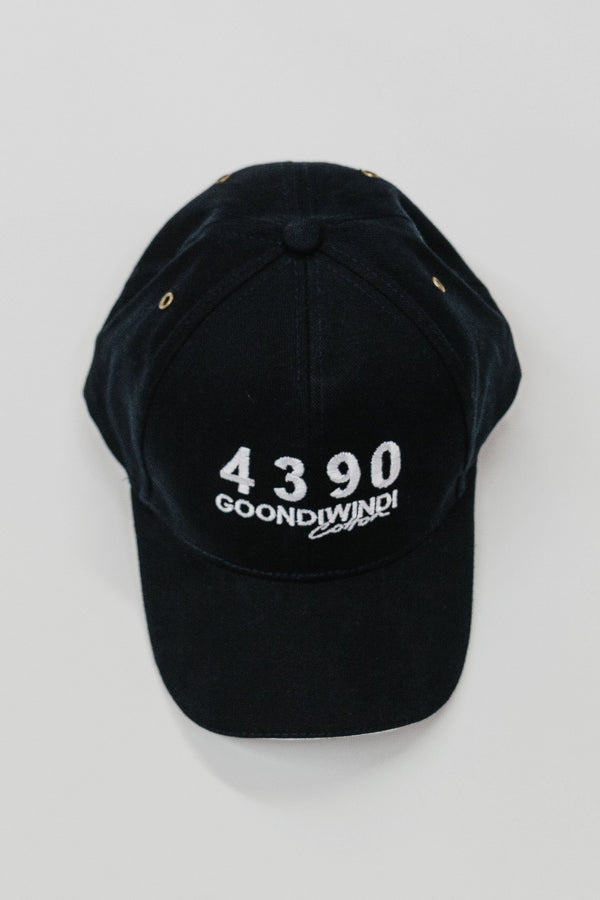 Embroidered # 4390 Logo Navy Cap