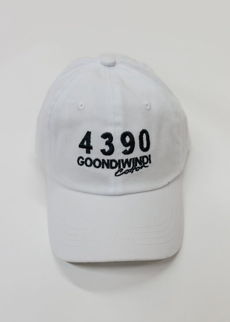 Embroidered # 4390 Logo White Cap