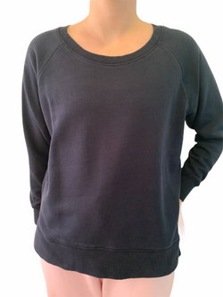 Dark Navy 100% Cotton Long Sleeve Sweat Shirt